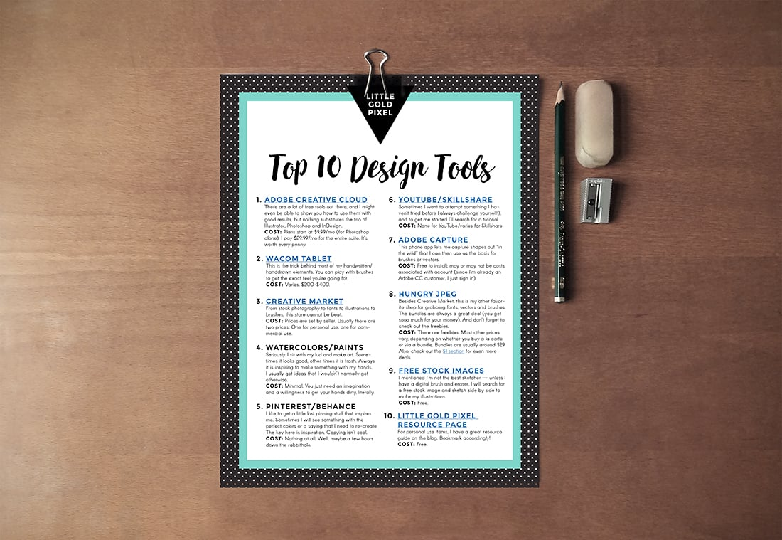 10 Design Tools to Boost Creativity + Free Printable Guide • Little Gold Pixel