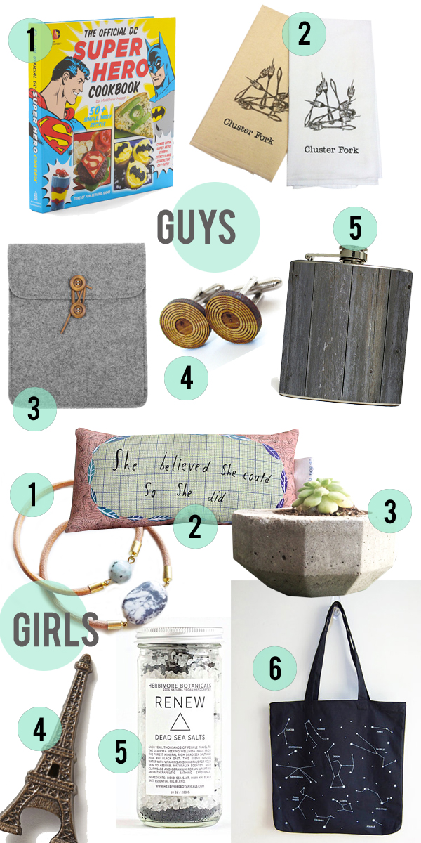 $20 Gift Guide • Women and Men • Little Gold Pixel