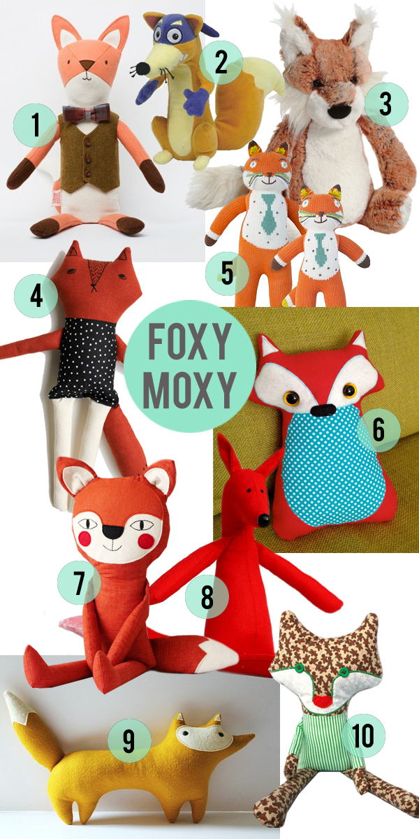 10 Plush Fox Toys Your Children Will Love // Little Gold Pixel