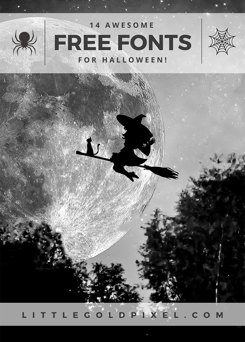 14 Free Halloween Fonts You Can Use Year-Round • Little Gold Pixel