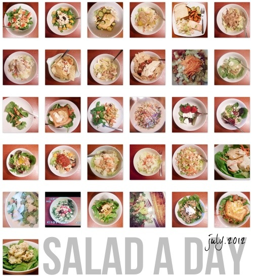 Salad-a-Day Challenge: 5 Things I Learned •Little Gold Pixel