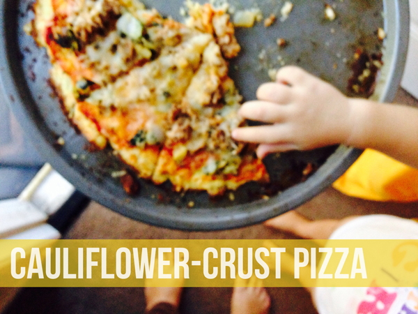 Easy Cauliflower Crust Pizza Recipe • Little Gold Pixel