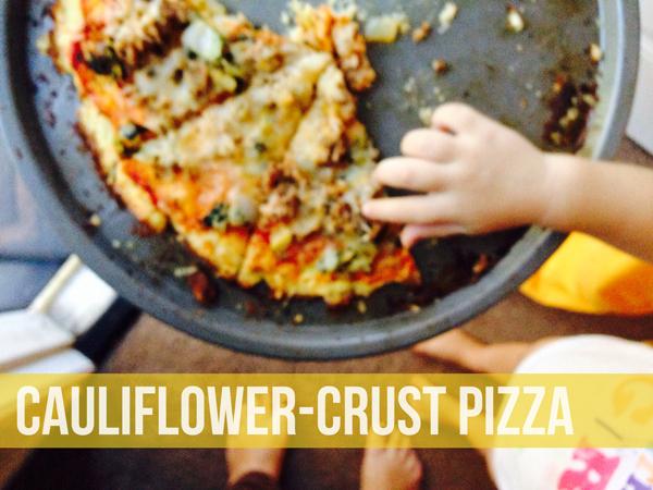 Easy Cauliflower Crust Pizza Recipe • Little Gold Pixel
