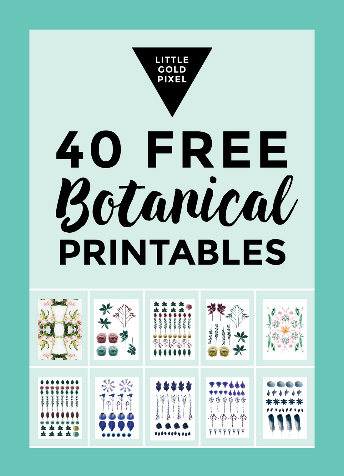 40 Free Botanical Printables • Little Gold Pixel