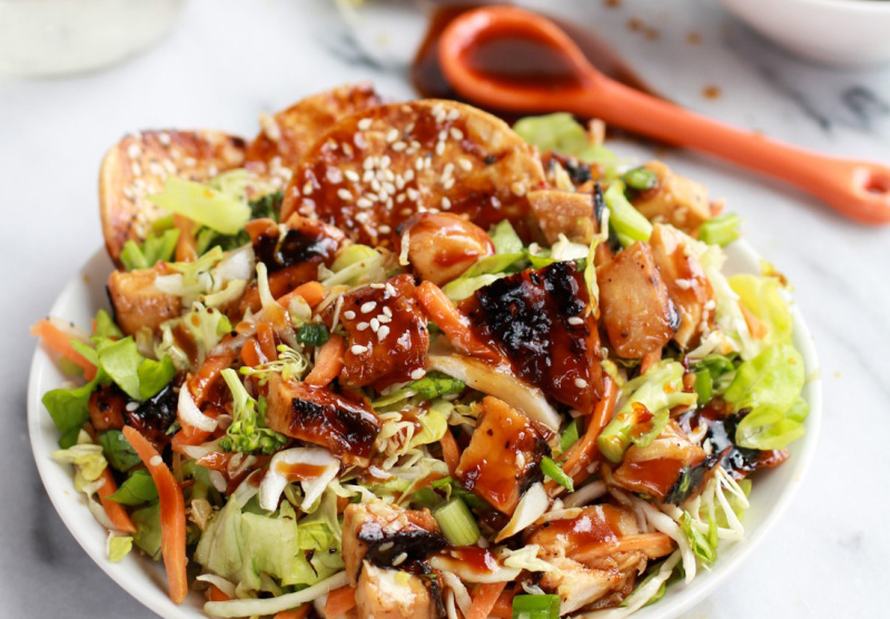 Chopped-Asian-BBQ-Chicken-Salad-with-Honey-Sesame-Crackers-halfbakedharvest