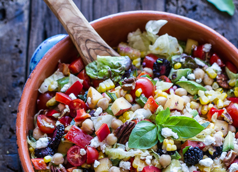Easy-Summer-Herb-and-Chickpea-Chopped-Salad-with-Goat-Cheese-halfbakedharvest