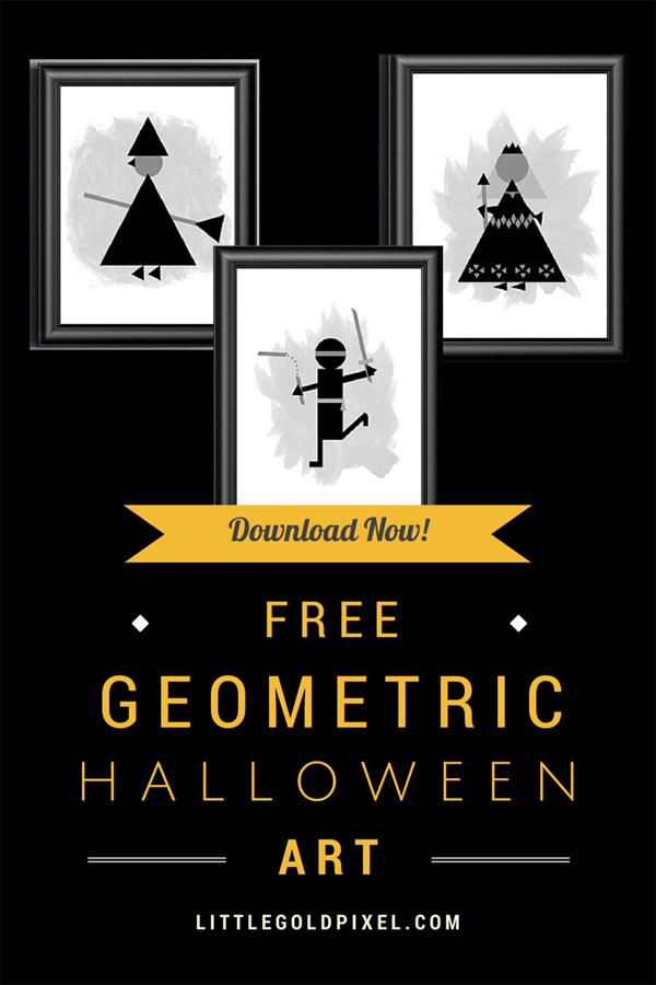 Free Geometric Halloween Printables • Little Gold Pixel
