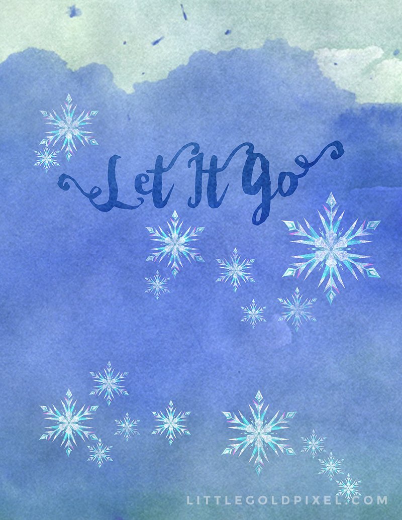 Frozen Let It Go Free Art Printables • Little Gold Pixel • A variation of my earlier printables, this time art directed by my 4-year-old daughter.