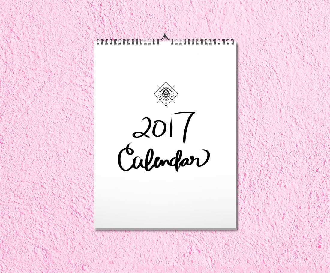 2017 Printable Calendar Free Download • Little Gold Pixel
