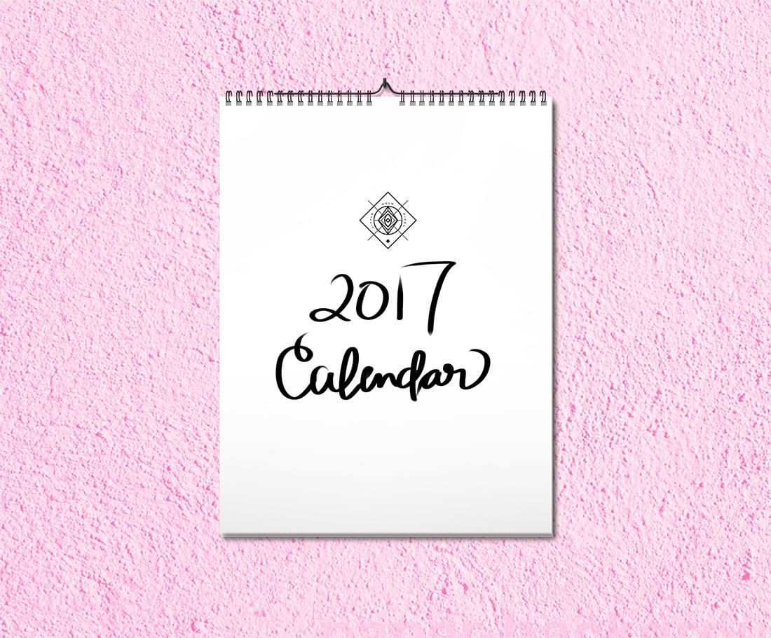 2017 Printable Calendar Free Download • Little Gold Pixel
