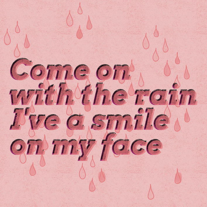Singin' in the Rain Free Printable • Little Gold Pixel