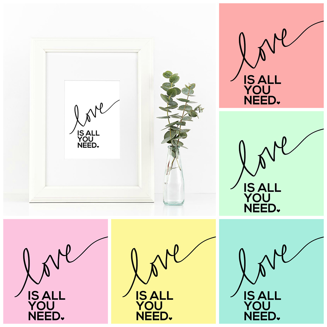 Beatles Printables • All You Need Is Love • Little Gold Pixel • shoplittlegoldpixel.com