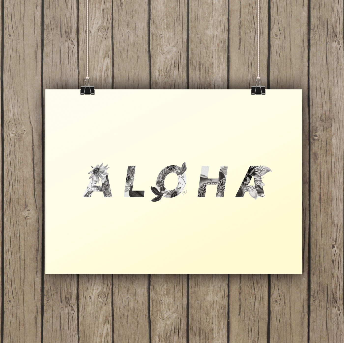 Aloha Floral Hawaiian Art Printable / Freebie Fridays • Little Gold Pixel