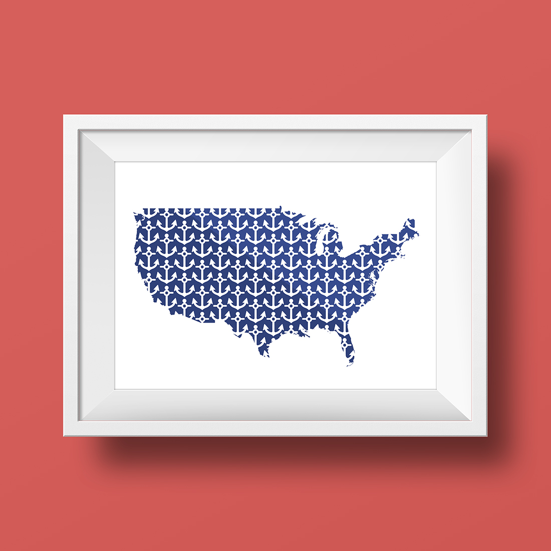 4th of July Anchors Away Map Printable • Little Gold Pixel