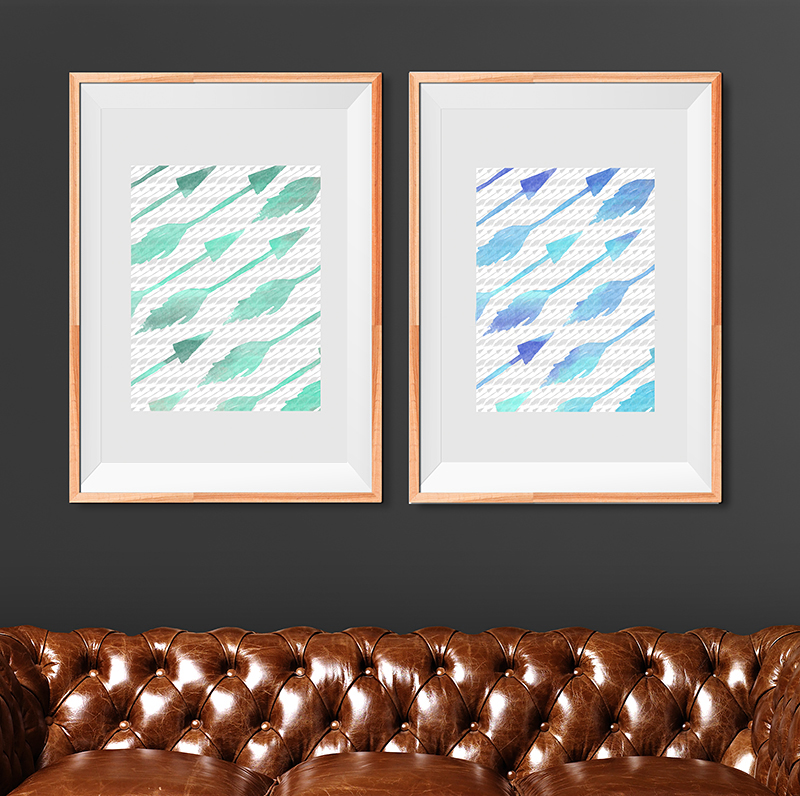 Arrow Pattern Free Art Printables • Little Gold Pixel