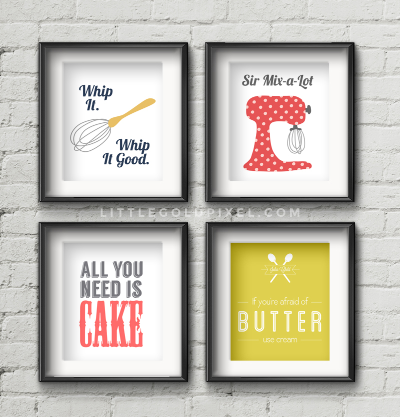 Wall Art For Kitchen 20 kitchen free printables • wall art roundup • little gold pixel