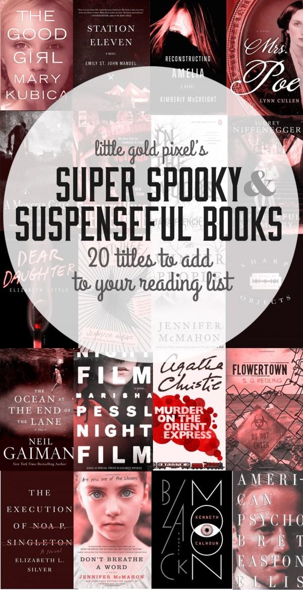 20 Super Spooky Suspenseful Reads • Little Gold Pixel