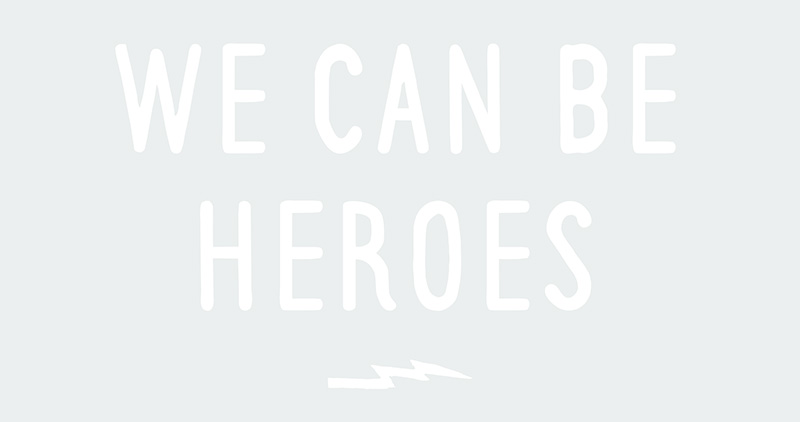 David Bowie Free Art Printables / Freebie Fridays • Heroes Lyrics • Little Gold Pixel