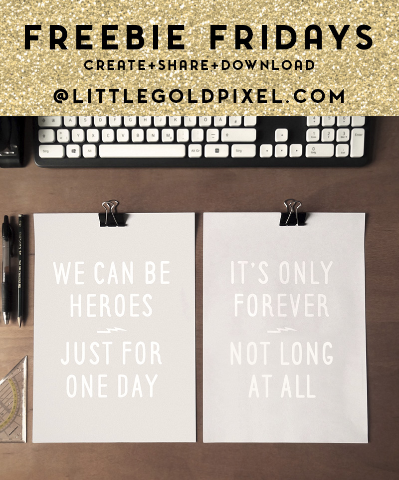 David Bowie Free Printables / Freebie Fridays • Little Gold Pixel