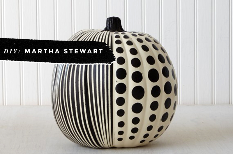 Black & White Pumpkins: Easy, Minimal, No-Carve Ideas • Little Gold Pixel • photo via Martha Stewart