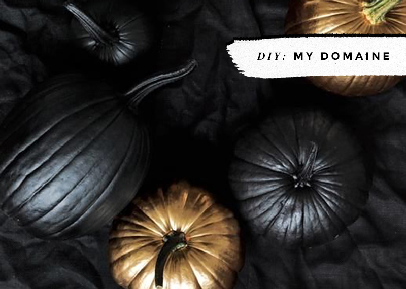 Black & White Pumpkins: Easy, Minimal, No-Carve Ideas • Little Gold Pixel • photo via My Domaine