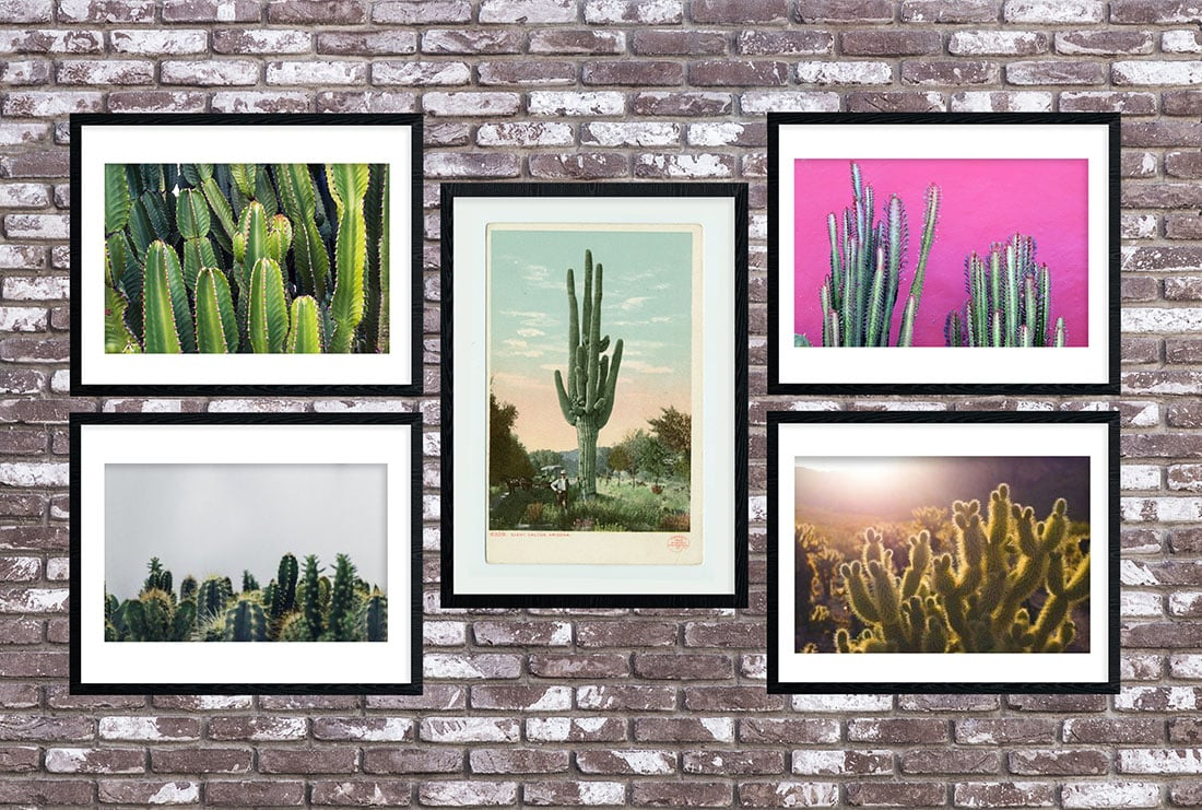 Cactus Art Roundup: 55 Awesome Free Printables •Little Gold Pixel