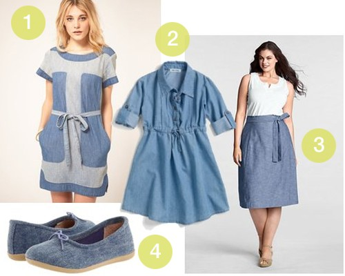 Chambray Fashion Trend • Little Gold Pixel