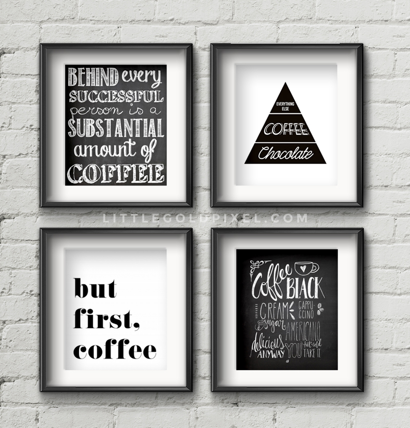 20 kitchen free printables o wall art roundup o little for Kitchen colors with white cabinets with large metal letter wall art