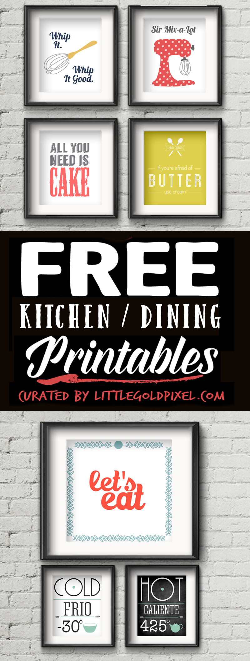 kitchen free printables little gold pixel - Kitchen Wall Art