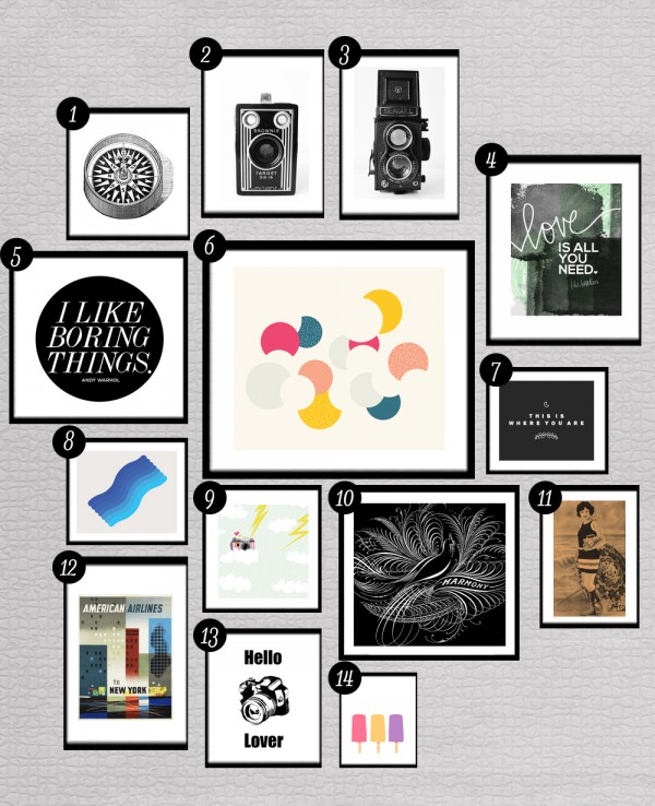 Wall Decor Printables : More free printables for gallery walls little gold pixel