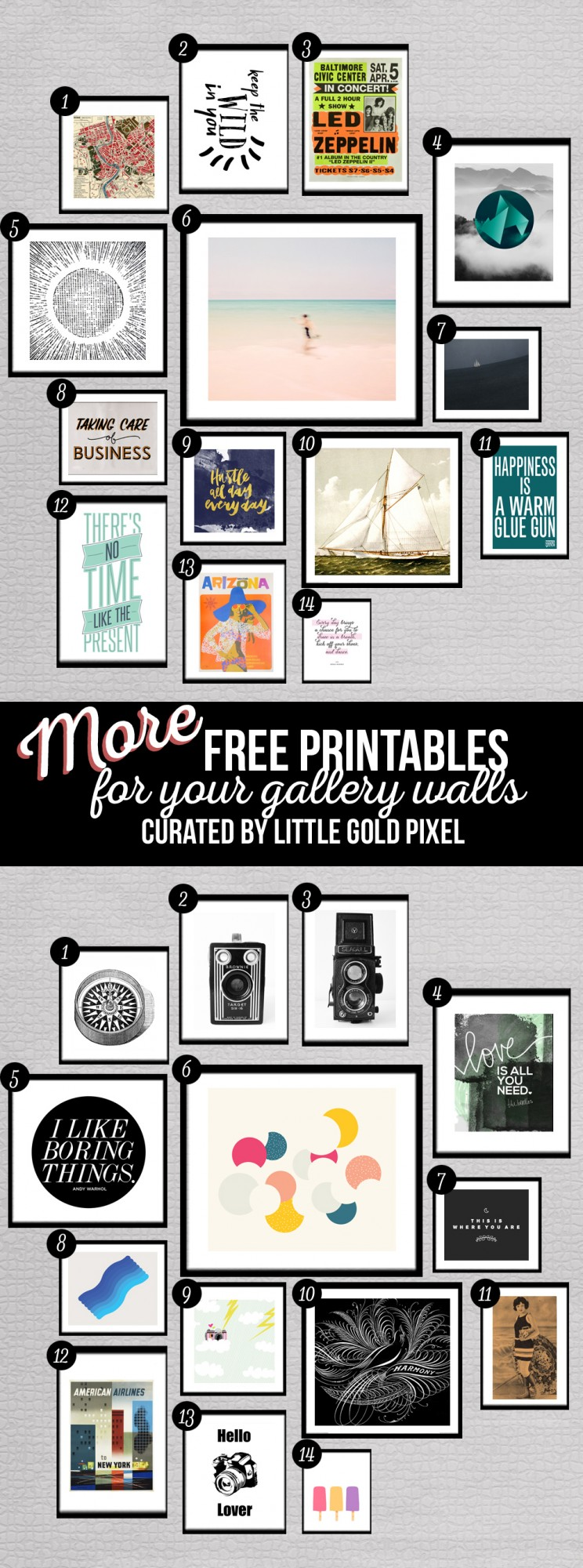 It's just an image of Stupendous Gallery Wall Printables