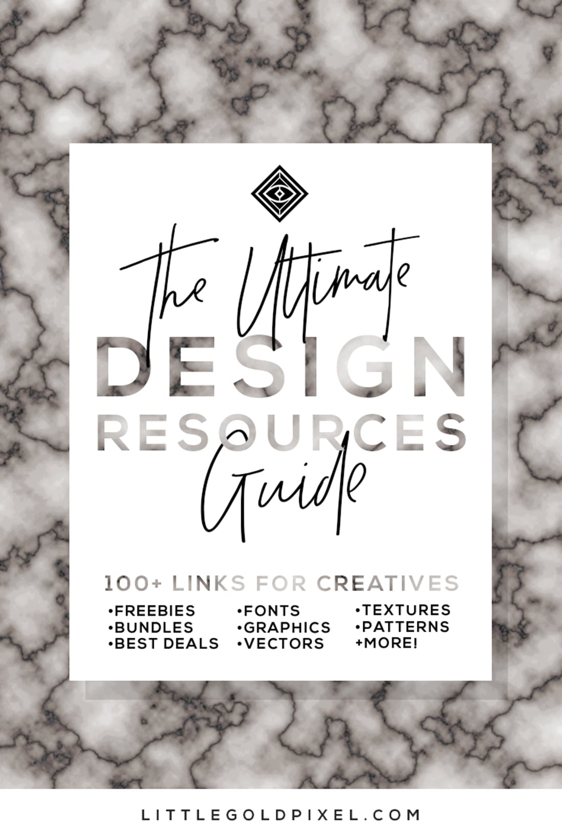 Ultimate Design Resources Guide • 100+ Links for Digital Creatives who Photoshop, Illustrator • Freebies, Bundles & Deals on Fonts, Graphics, Vectors, Textures, Patterns & More! • Click through & bookmark today!