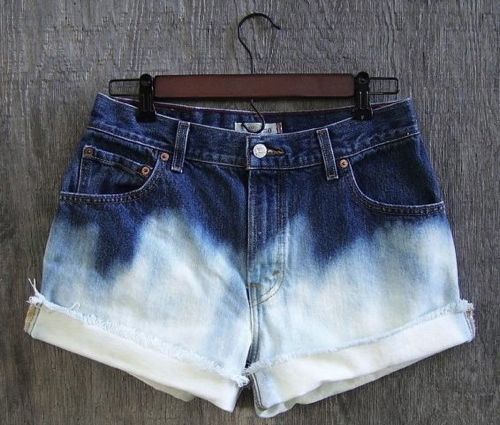 Dip Dying Shorts • Little Gold Pixel