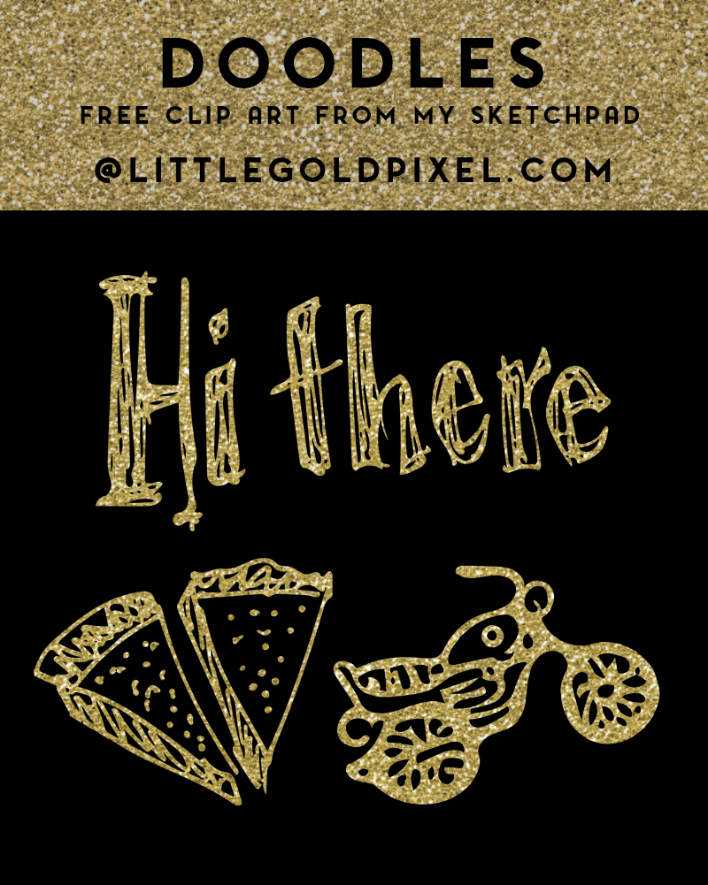 Doodles: Free Clip Art from My Sketchpad • Little Gold Pixel