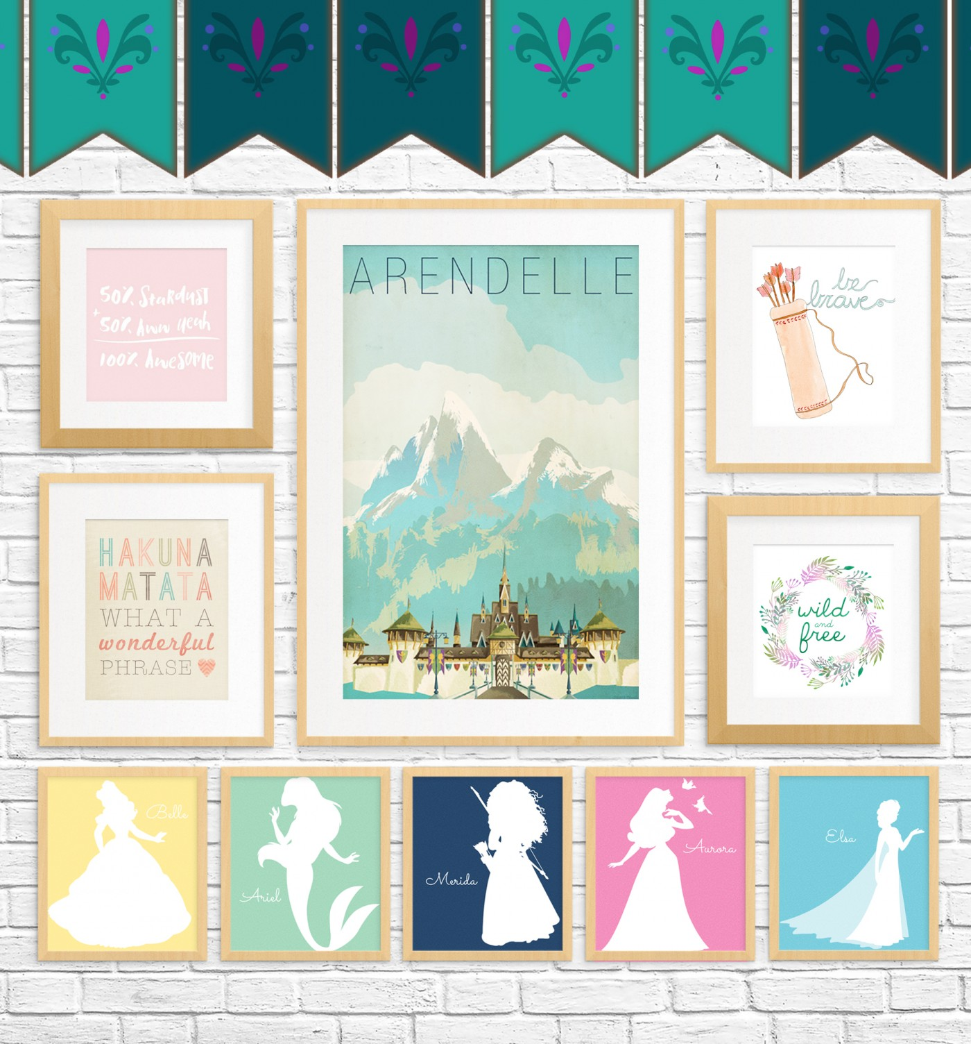 20 Free Fairy Tale Printables for Kids Rooms • Little Gold Pixel
