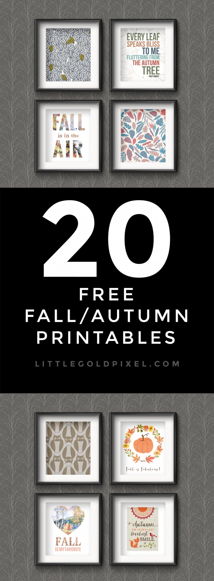 20 Awesome Free Fall Printables • Little Gold Pixel • In which I round up 20 Awesome Free Fall Printables that you can use to update your seasonal decor and gallery walls.