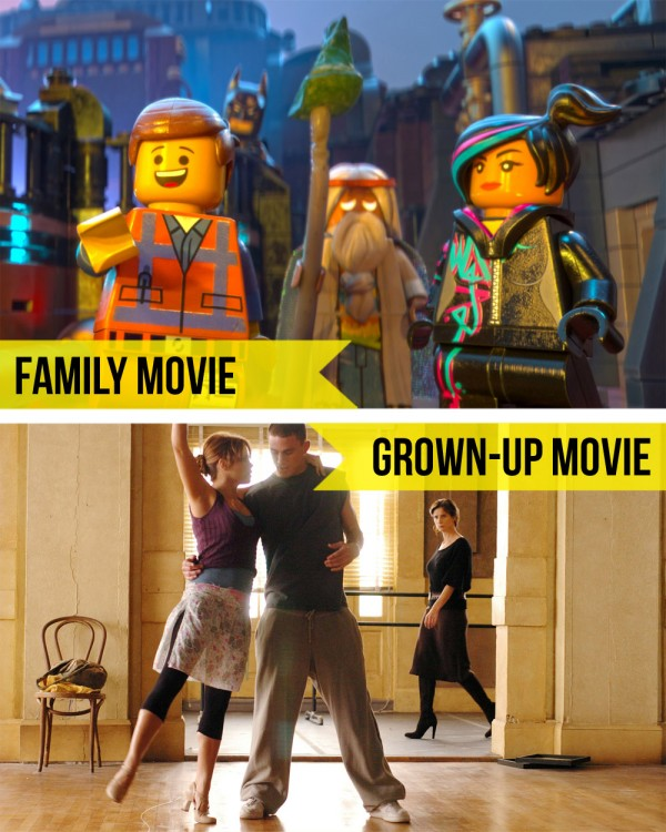 Family Movie Night / Lego Movie & Step Up • Little Gold Pixel