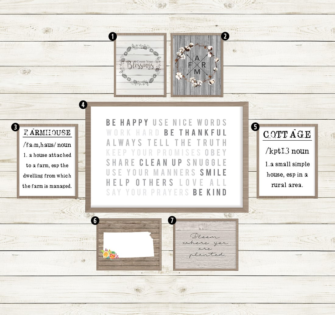 40+ Free Farmhouse Printables for that Fixer Upper Vibe • Little Gold Pixel