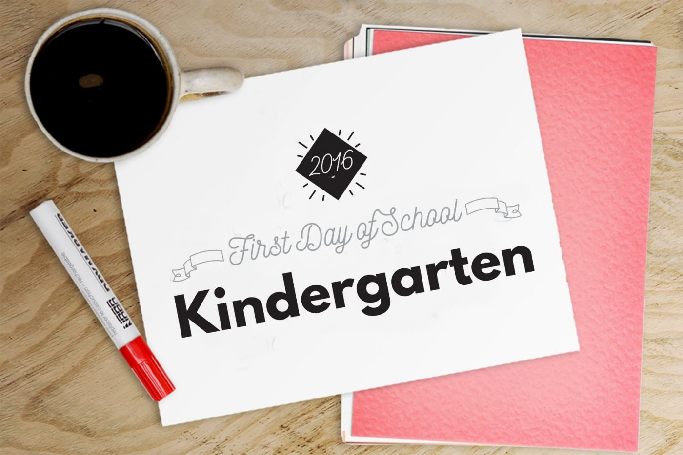 First Day of School Printable Signs •Little Gold Pixel