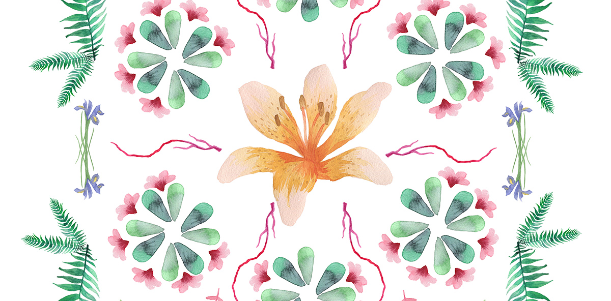 Floral Rorschach Free Art Printable / Freebie Fridays • Little Gold Pixel