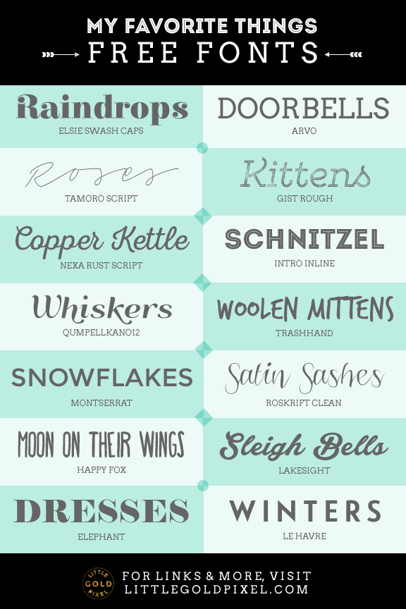 Roundup: Free Fonts to Boost Everyday Design • Little Gold Pixel