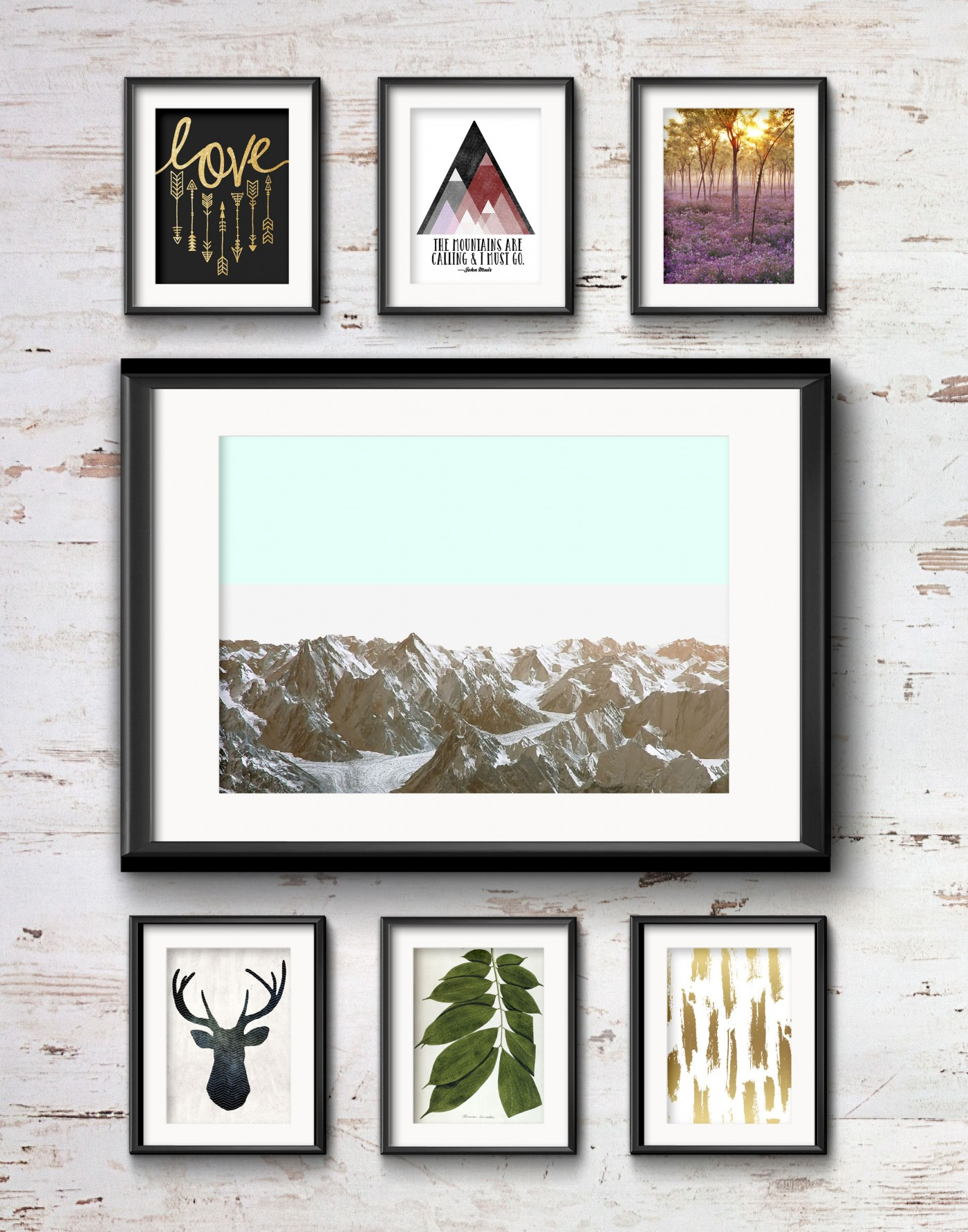 Frame Game: Cozy Rustic Vibe for a Cabin Gallery Wall • Frame Game is an occasional series in which I take readers' gallery wall requests and find art that fits their personalities • Little Gold Pixel
