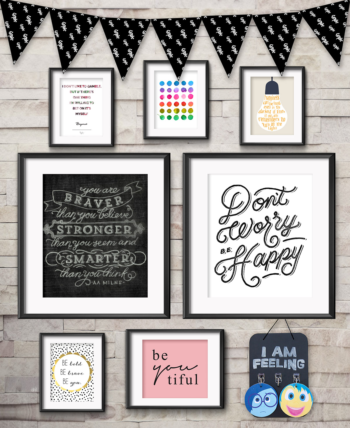 Inspirational Gallery Wall for Kids • Frame Game is an occasional series in which I take readers' gallery wall requests and find art that fits their personalities • Little Gold Pixel