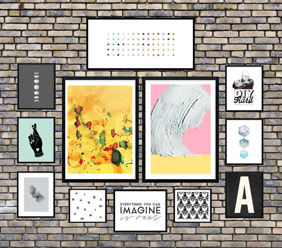 Industrial Chic Gallery Wall • Frame Game • Little Gold Pixel