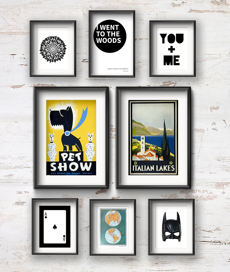 Fun & Fresh Gallery Wall for a Diverse Couple • Little Gold Pixel