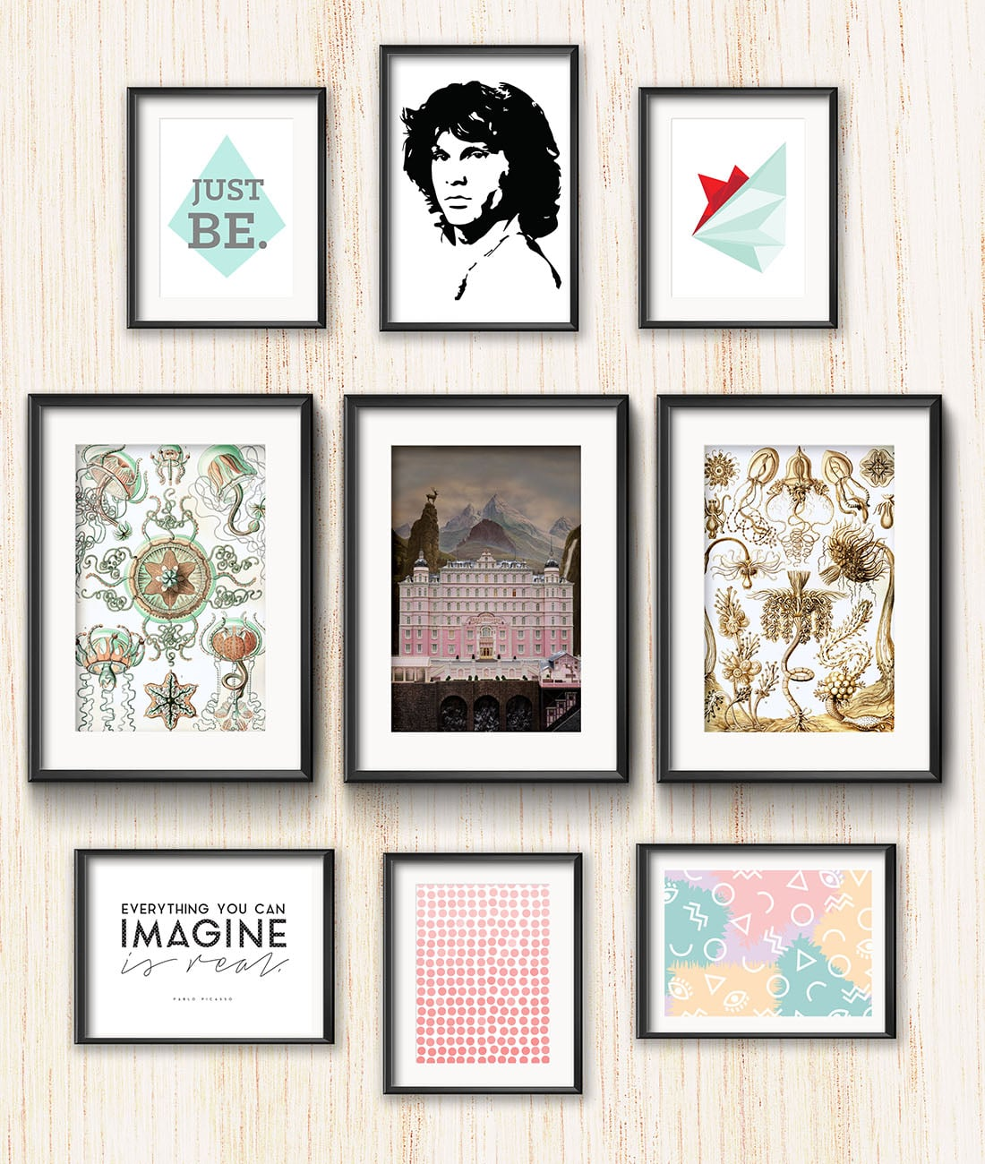 California Beach Vibe Gallery Wall • Frame Game isanoccasional series in which I take readers' gallery wall requests and find art that fits their personalities •Little Gold Pixel