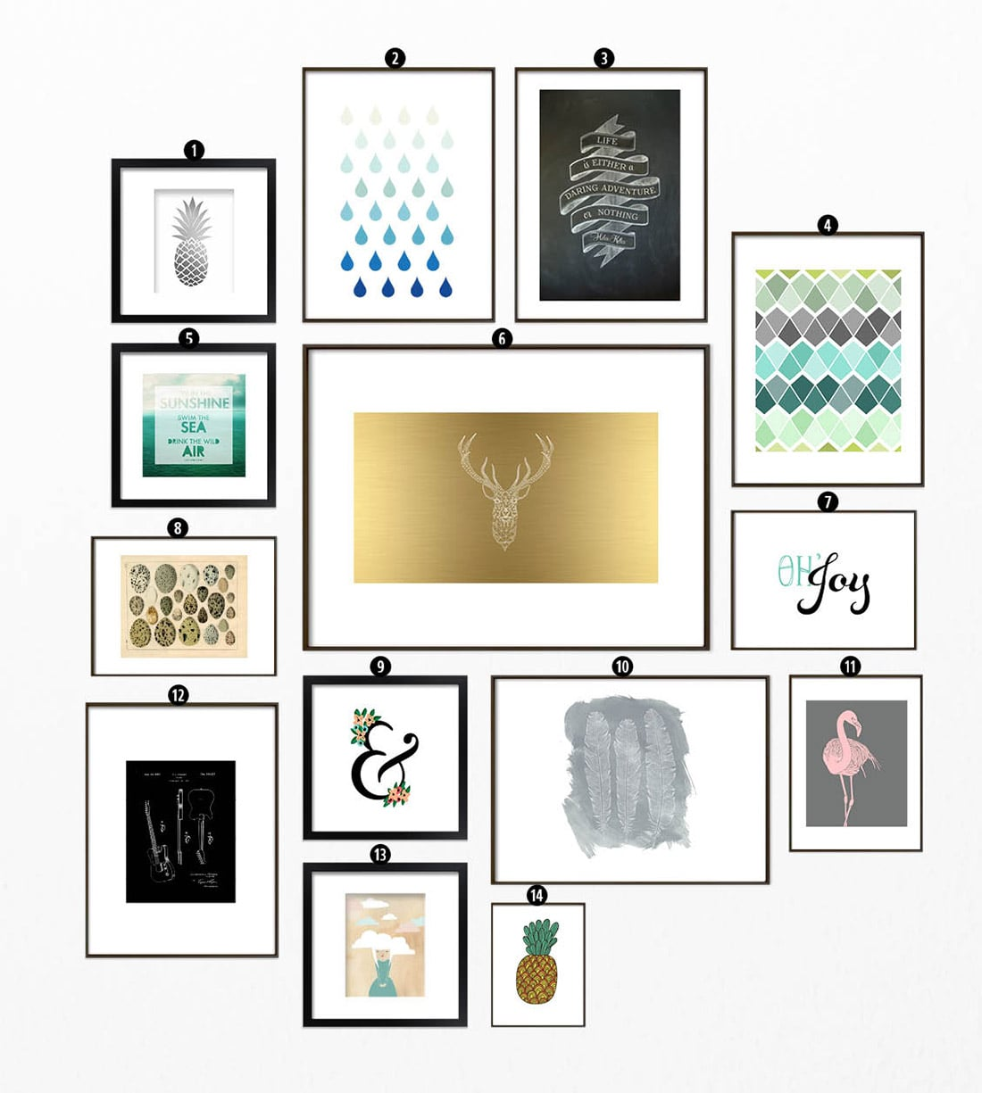 It's just a picture of Insane Gallery Wall Printables
