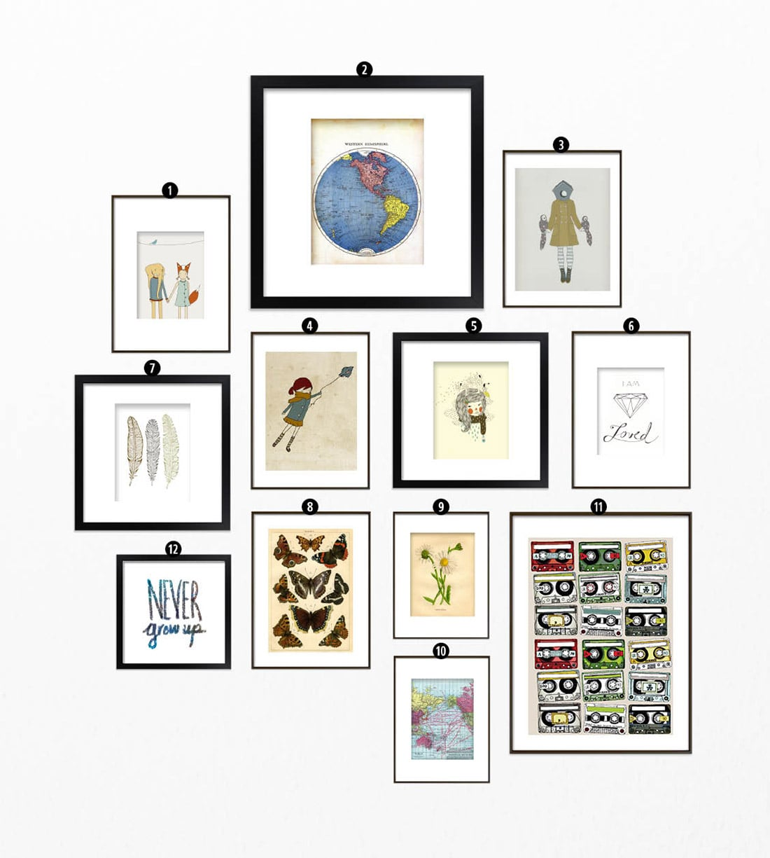 It's just a photo of Canny Gallery Wall Printables