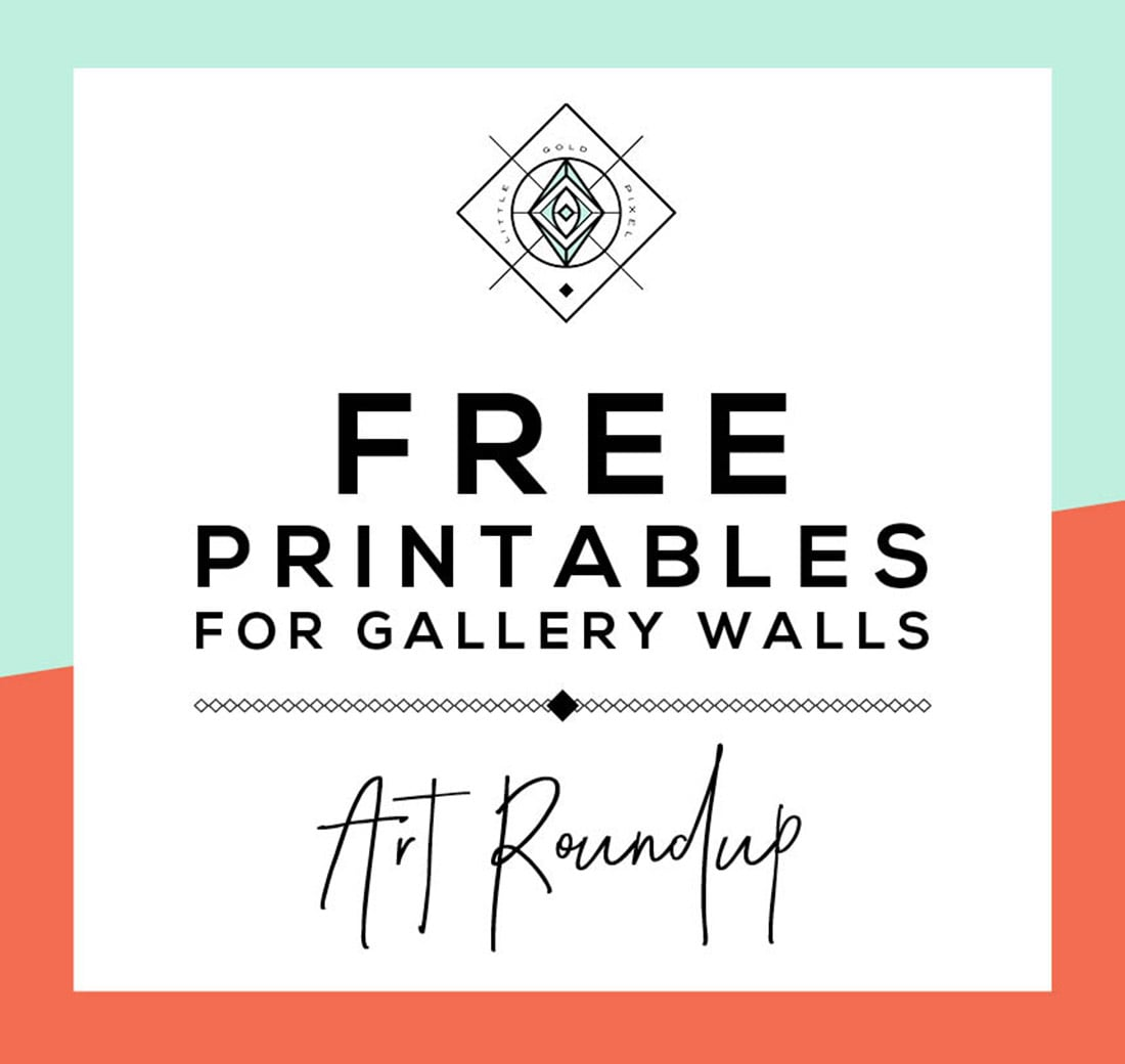 graphic about Free Printable Art identify Roundup: Free of charge Printables for Gallery Partitions Very little Gold Pixel