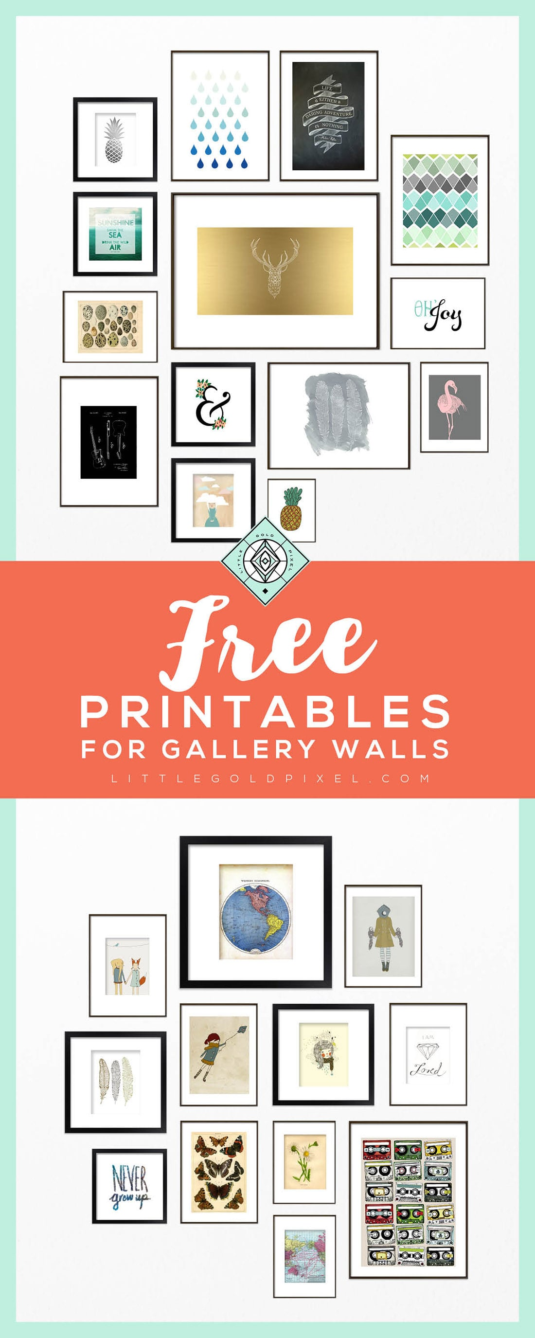 It's just a photo of Intrepid Gallery Wall Printables